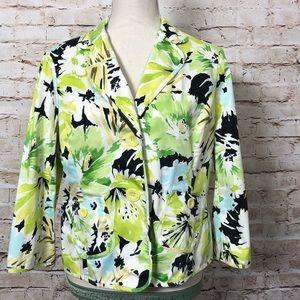 Liz Claiborne Womens Jacket Sz 12 | Floral Print